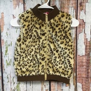 Copper Key Youth 6X Leopard Print Vest Full Zip